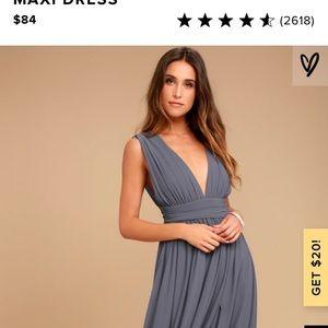 Lulus: Heavenly Hues Denim Blue dress
